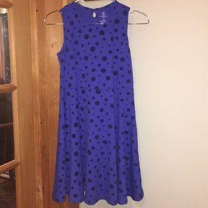 Lands End Girls Polka Dot Dress